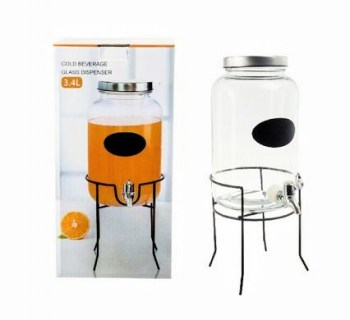 beverage dispenser 3.4l in stand